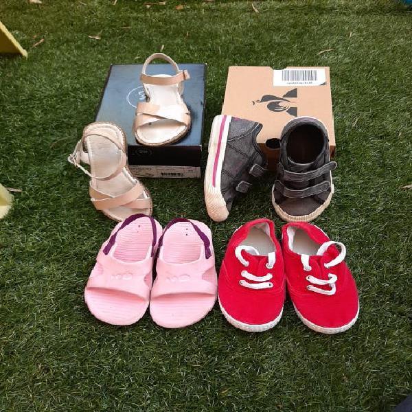 Lote zapatos verano niña t .26