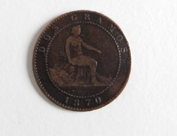 Moneda 1870 2 centimos