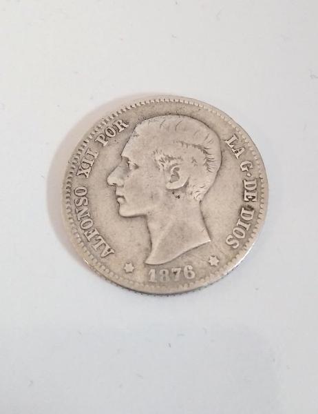 Moneda alfonso xiii 1 peseta de plata