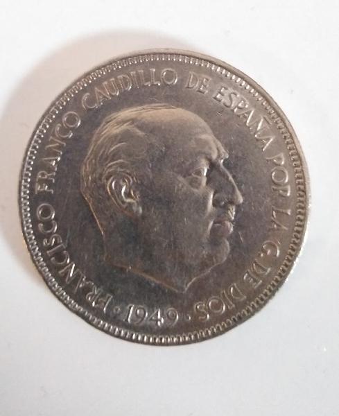 Moneda de franco 5 pesetas
