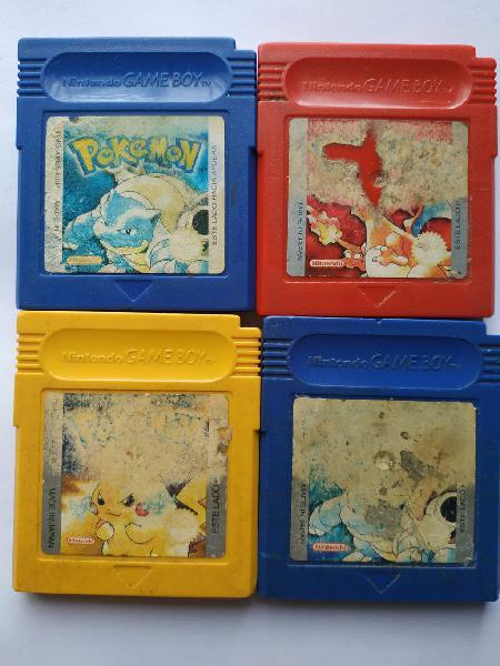 Pokemon amarillo azul rojo nintendo game boy
