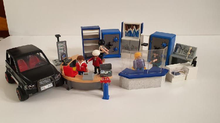 Set playmobil oficina banco 4402 + ladrones 4059
