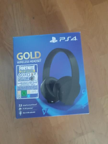 Sony ps4 gold wireless headse inalámbrico auricur