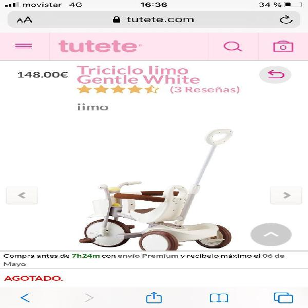 Triciclo,carrito paseo bebes