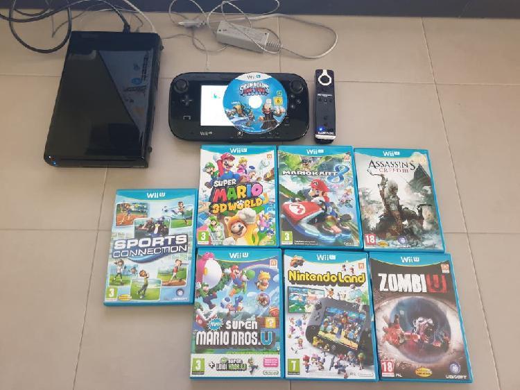 Wii u con 8 juegos y dos mandos como nueva!!