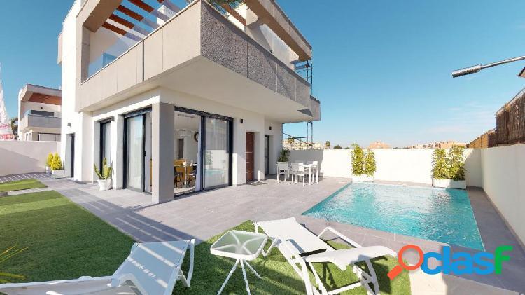 Villa moderna de 3 dormitorios y piscina privada en la herrada - los montesinos