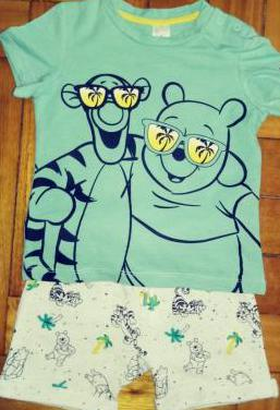 Conjunto camiseta y bermuda winne the pooh y tyga