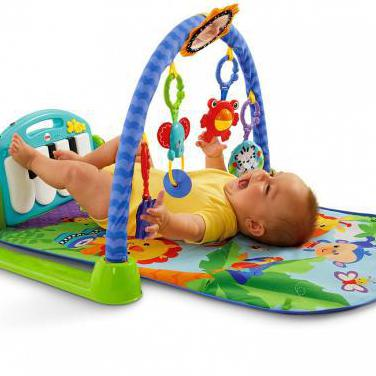 Dos alfombras musical,gimansio,piano fisher price