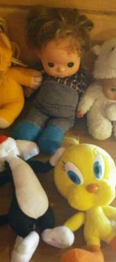 Lote muñecas peluches