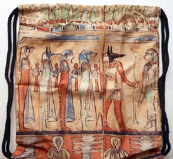 Mochila anubis - plana - de nylon - museo egipcio - articulo