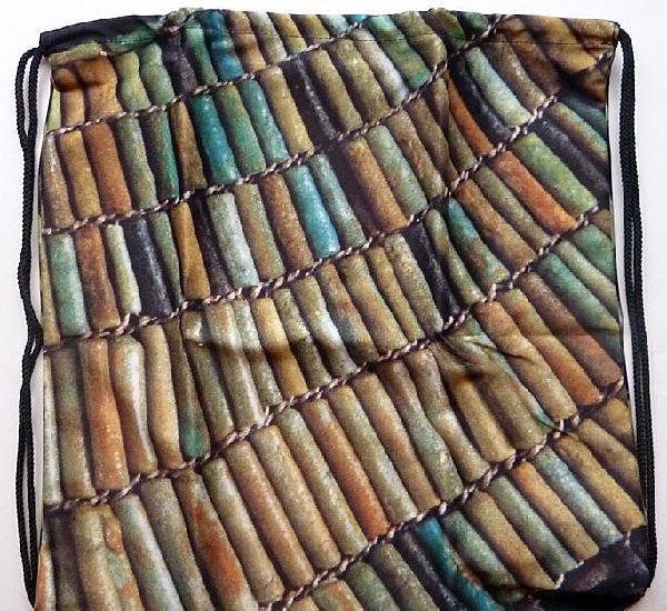 Mochila usejet - plana - de nylon - museo egipcio - nuevo