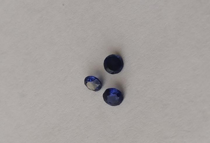 Piedras de azul sapfir de bisutería