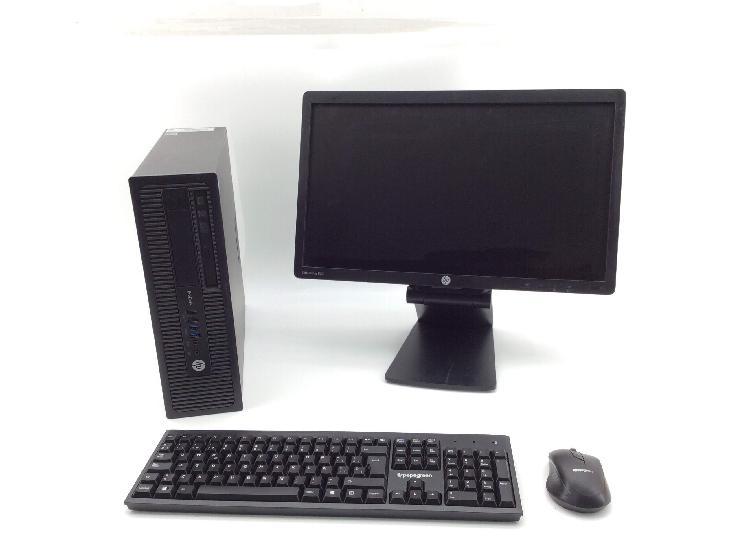 Pc hp prodesk 800 c/ monitor 20`` teclado/raton inalam
