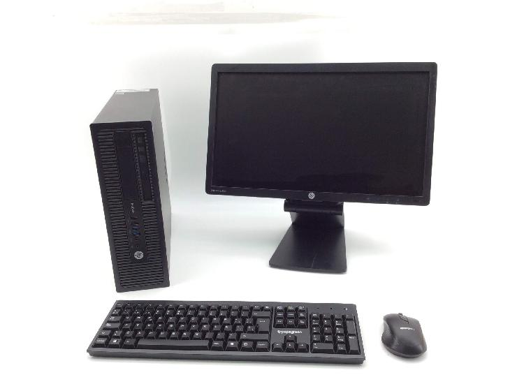 Pc hp prodesk 800 c/monitor 20`` raton y teclado inalam