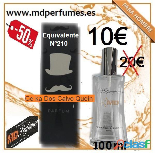Perfume hombre equivalente n 210 ce ka dos calvo quein alta gama 10€ 100ml