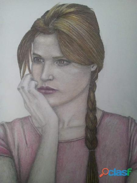 Realizo retratos y caricaturas a lápiz