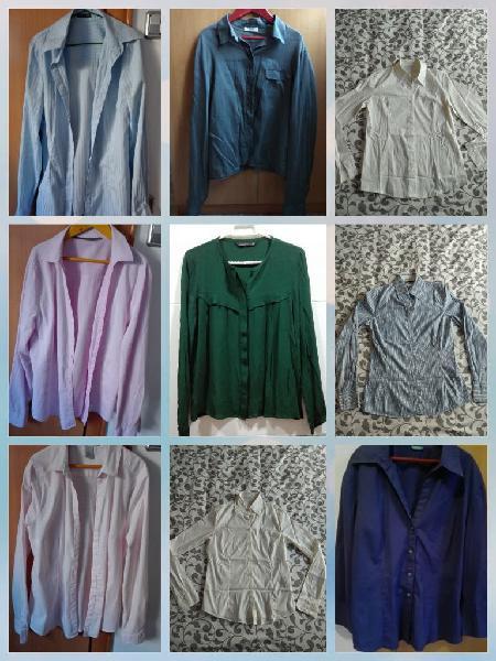 9 camisas para chica, en buen estado, talla xs/s/m