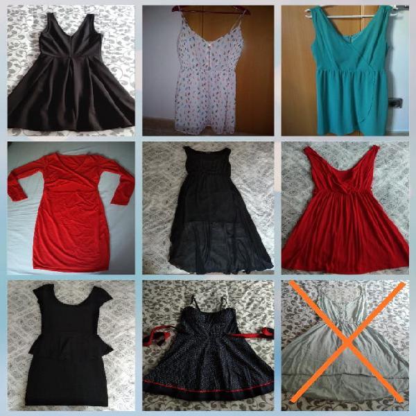 9 vestidos tallas xs/s/m