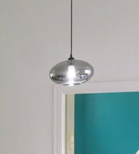 Lámpara de techo cristal ahumado