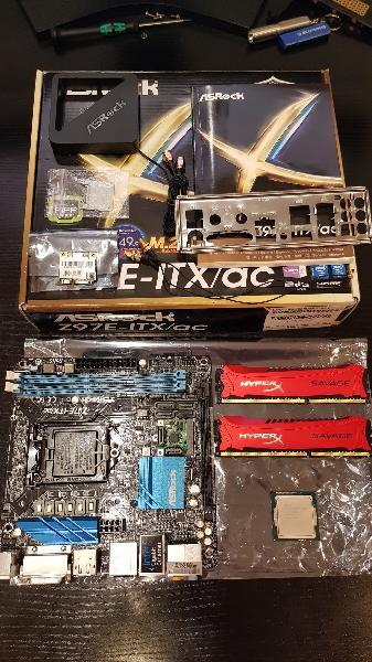 Placa base asrock z97e-itx/ac + i3 4160 + 8gb ddr3