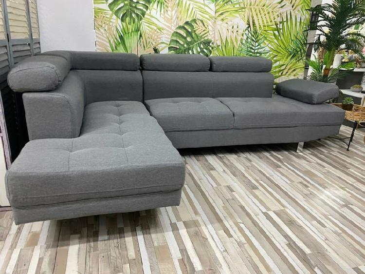 Sofá rinconera nueva de diseño 46€ mensuales