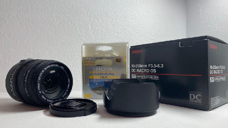 Teleobjetivo sigma 18-250mm f3.5-6.3 macro os