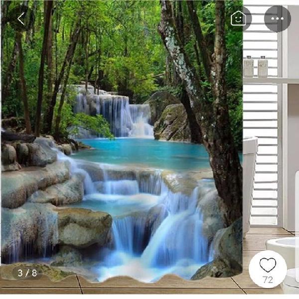 Cortina baño cascada