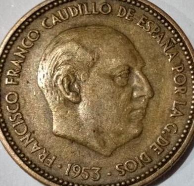 2,5 PESETAS FRANCO 1953 *54