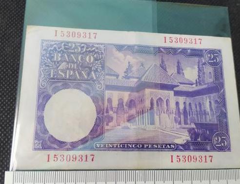 25 pesetas 1954