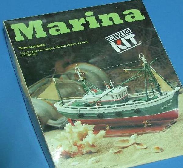 Barco marina pesquero artesania latina escala 1:75 maqueta a