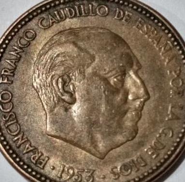 BONITA: 2,5 PESETAS FRANCO 1953 *56