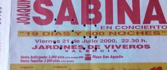 Joaquin sabina - entrada año 2000 -