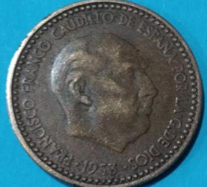 Moneda: 1 peseta franco 1953 *60