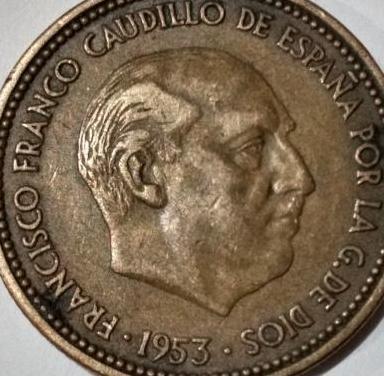 Moneda : 2,5 pesetas franco 1953 *54(vr. grande)
