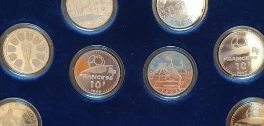 Monedas copa de futbol 98 francia