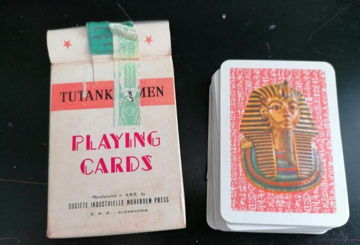 Naipes cartas baraja completa faraones egipto sin estrenar