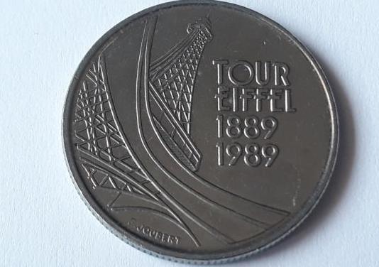 Torre eiffel, 5 francos francia 1989