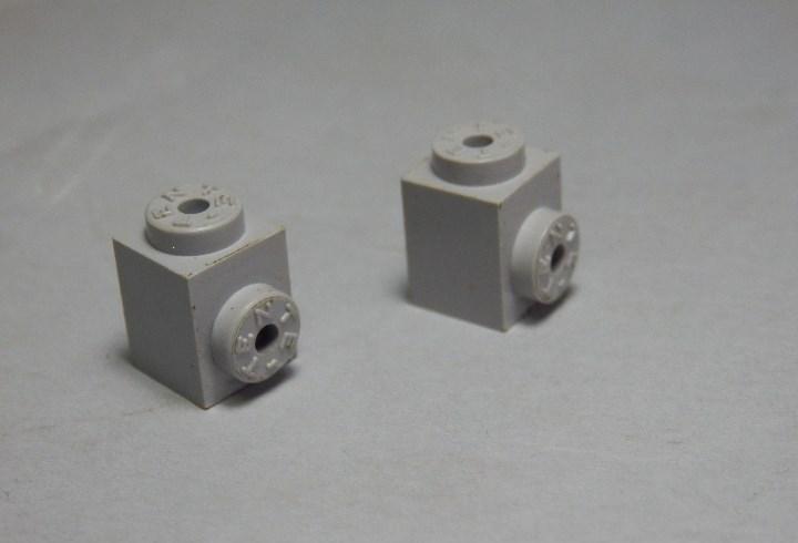 Tente bloque 1x1 enganche lateral gris claro, dos unidades