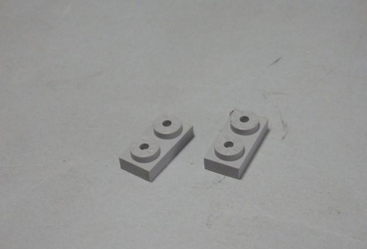 Tente placa 2x1 gris claro dos unidades