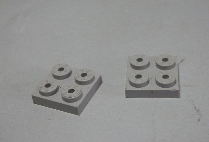 Tente placa 2x2 gris claro dos unidades