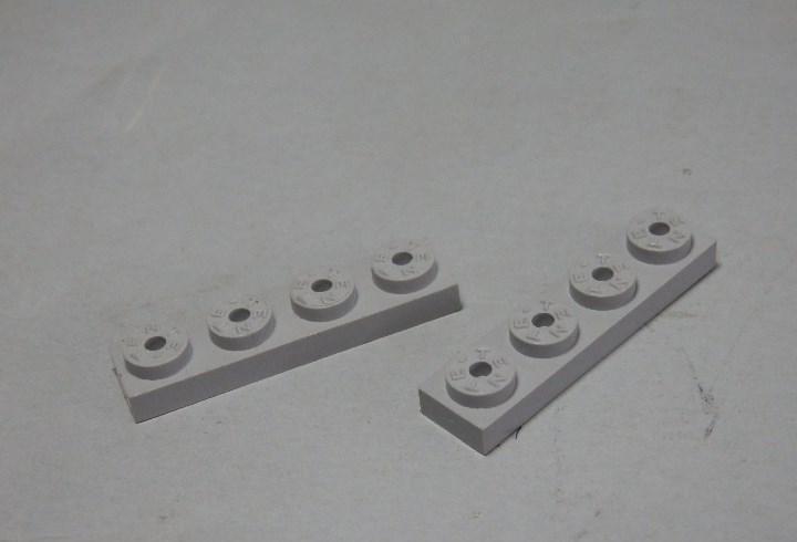 Tente placa 4x1 gris claro dos unidades
