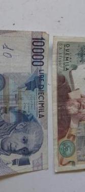 Billetes lire de italia .precio unidad