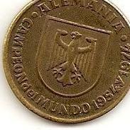 Moneda copa mundo españa 82- alemania