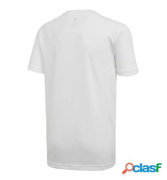 Camiseta M/c Casual Adidas Yb Tr A Tee 140 Blanco 2
