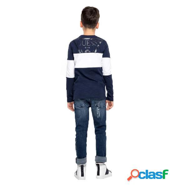 Camiseta casual niño guess t-shirt manga larga 18 azul marino