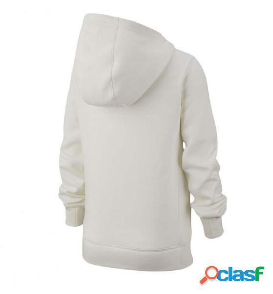 Hoodie niña sudadera capucha casual nike g nsw pe pullover blanco s