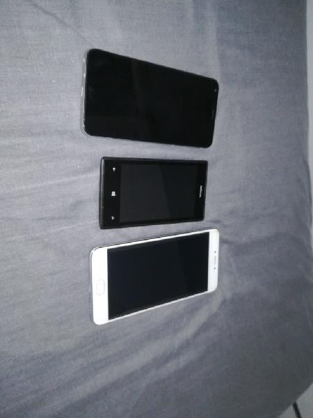 3 móviles : lg q6, meizu m3 note nokia lumia 520