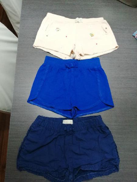 3 pantalones cortos niña 4-5 años.por separado tb