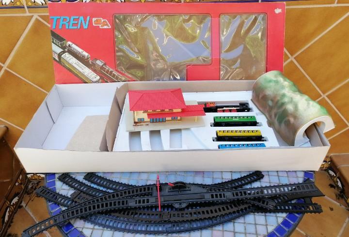 Autentico y soñado tren a pilas marca nacional -juguetes