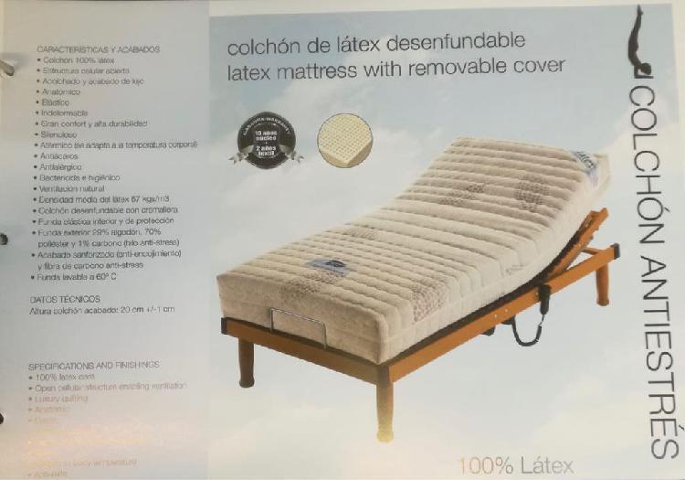 Cama articulada nueva, colchón látex